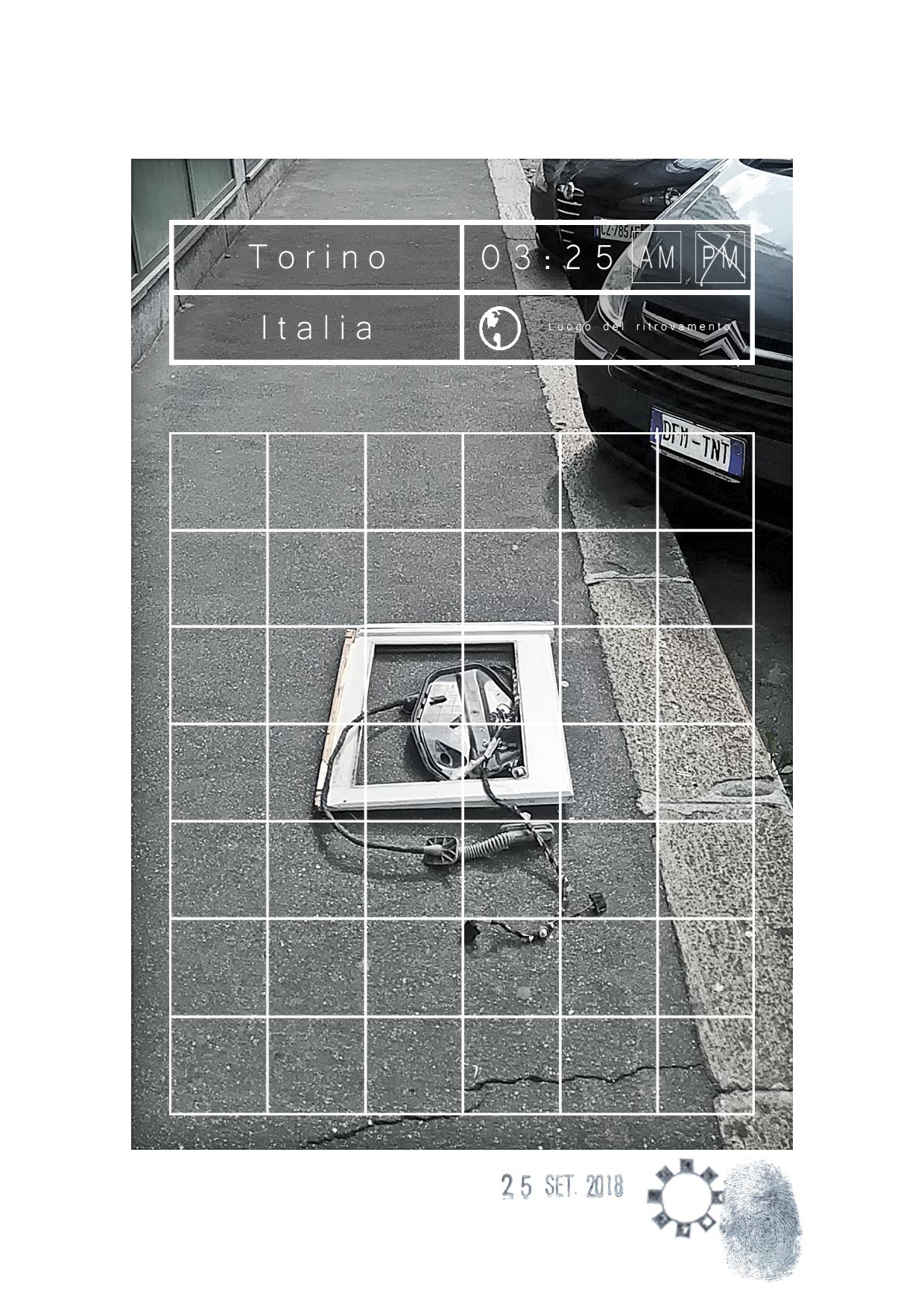 Opera dell'artista Maurizio Di Feo. Street art contemporanea, tra arte concettuale ed arte sociale per le strade di torino.